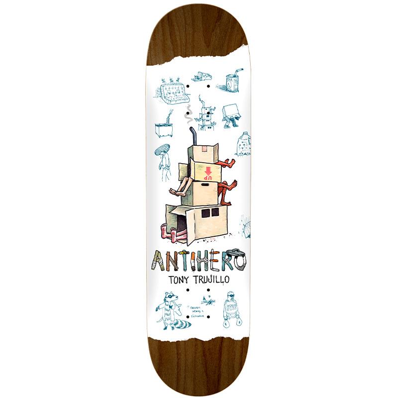 Anti Hero Trujillo Recycling Skateboard Deck White 8.38