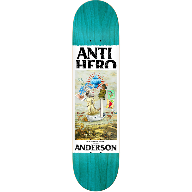 Anti Hero BA Four Pillars Of Obedience Skateboard Deck 8.62