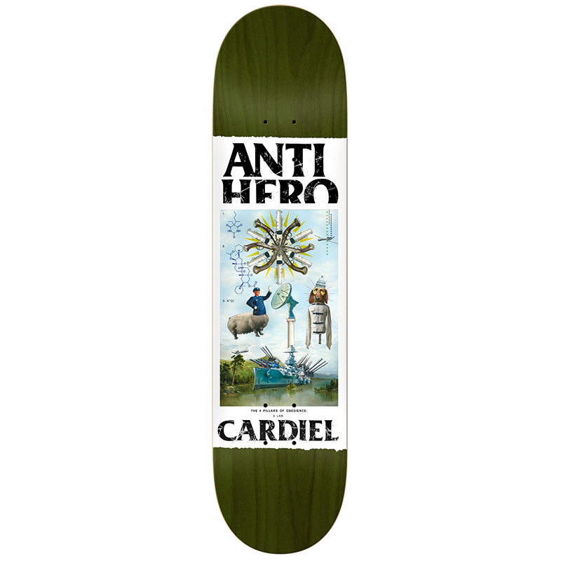 Anti Hero Cardiel Four Pillars Of Obedience Skateboard Deck 8.4