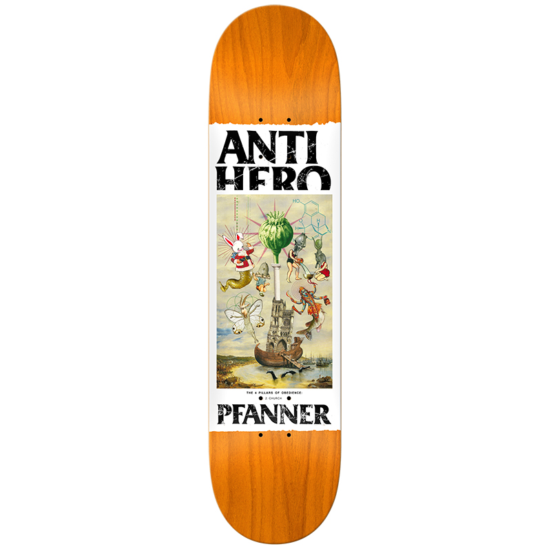 Anti Hero Pfanner Four Pillars Of Obedience Skateboard Deck 8.12