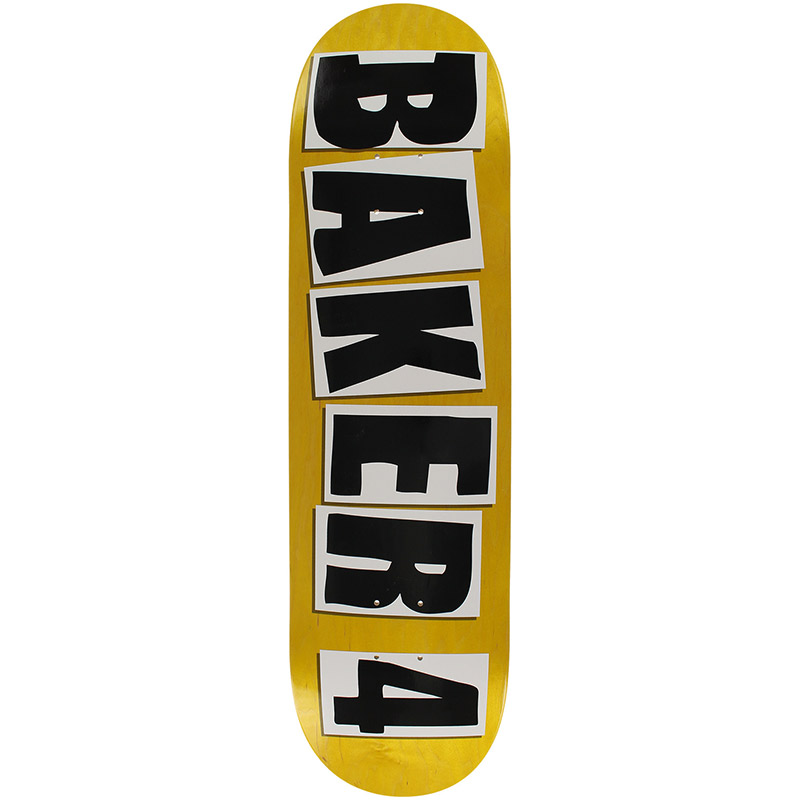 Baker 4 Skateboard Deck Black Assorted Veneer 8.38