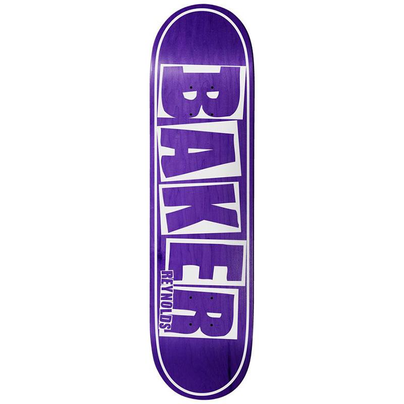 Baker Andrew Reynolds Brand Name Skateboard Deck Purple Veneer 8.125