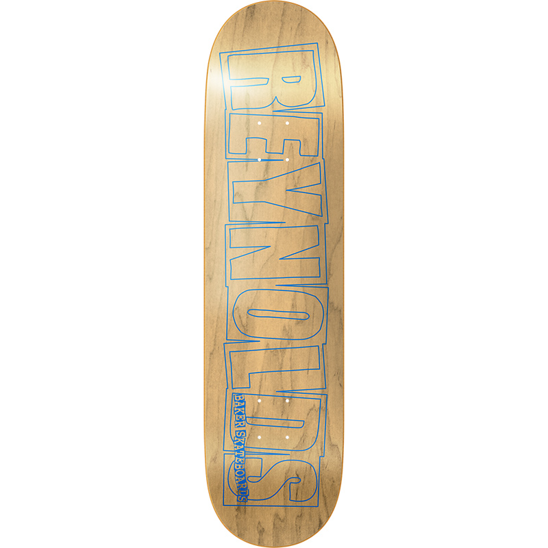 Baker Andrew Reynolds Logo Blue/Natural Skateboard Deck 8.5