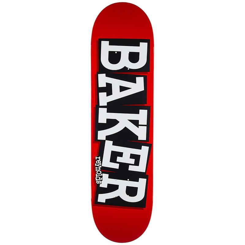Baker Andrew Reynolds Ribbon Name Skateboard Deck Red/White 8.25