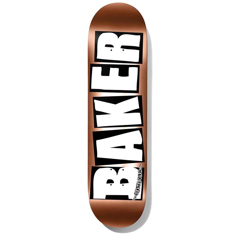 Baker Brand Logo Copper Foil Skateboard Deck 8.25