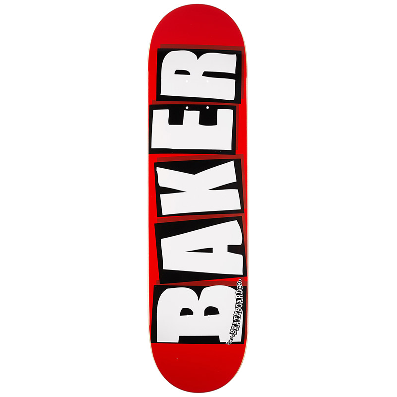 Baker Brand Logo White Skateboard Deck 8.125
