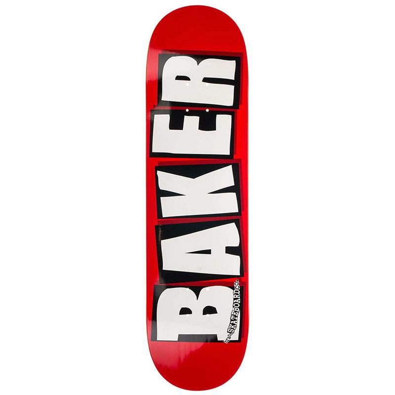 Baker Brand Logo White Skateboard Deck 8.25