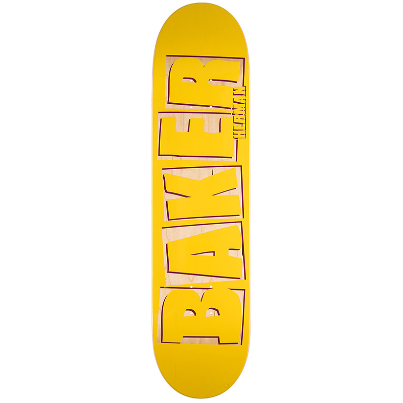 Baker Brian Herman Brand Name Punch Out Skateboard Deck 8.25