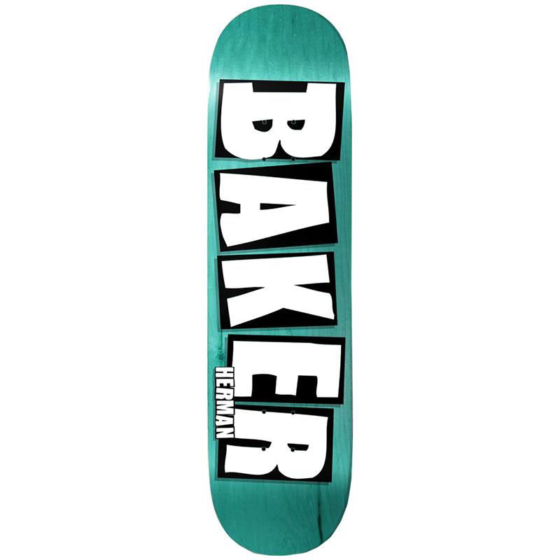 Baker Brian Herman Brand Name Skateboard Deck Veneer Colors 8.25