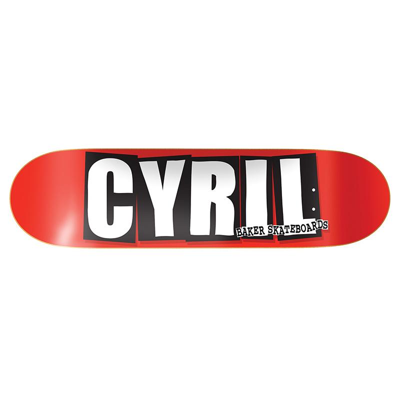 Baker Cyril Jackson Logo Skateboard Deck 8.0