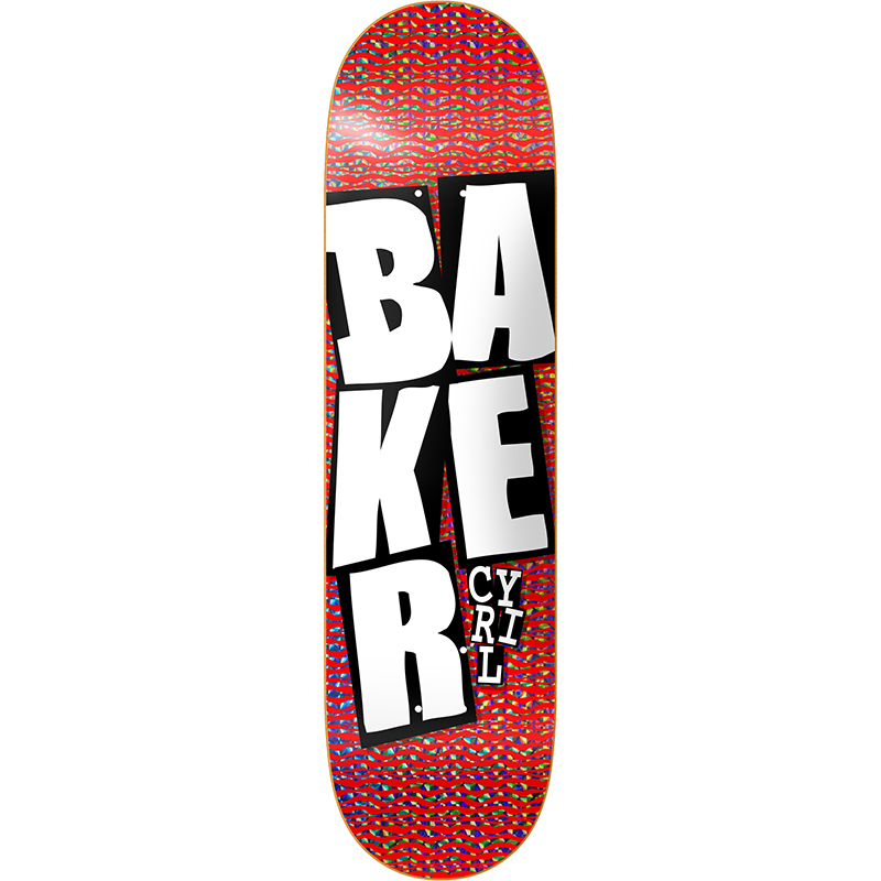 Baker Cyril Jackson Stacked Holo Red Skateboard Deck 8.0