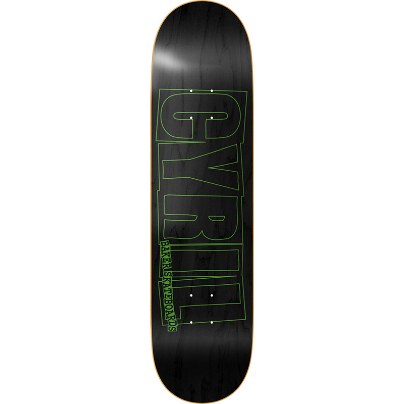 Baker Cyrill Jackson Logo Green/Black Skateboard Deck 8.125
