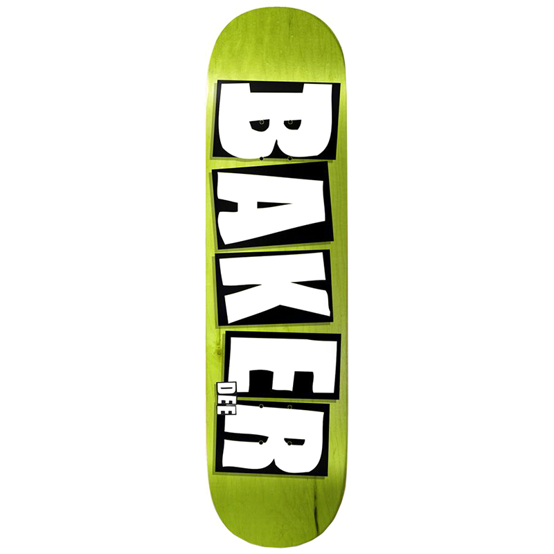 Baker Dee Ostrander Brand Name Skateboard Deck Veneer Colors 8.0