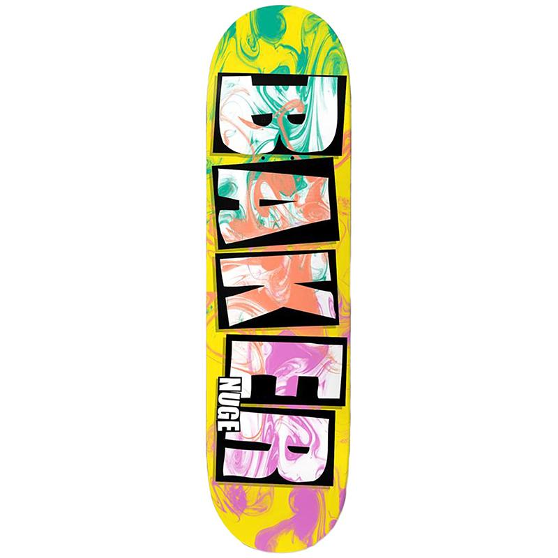 Baker DN Brand Name Ink Drops Skateboard Deck 8.0