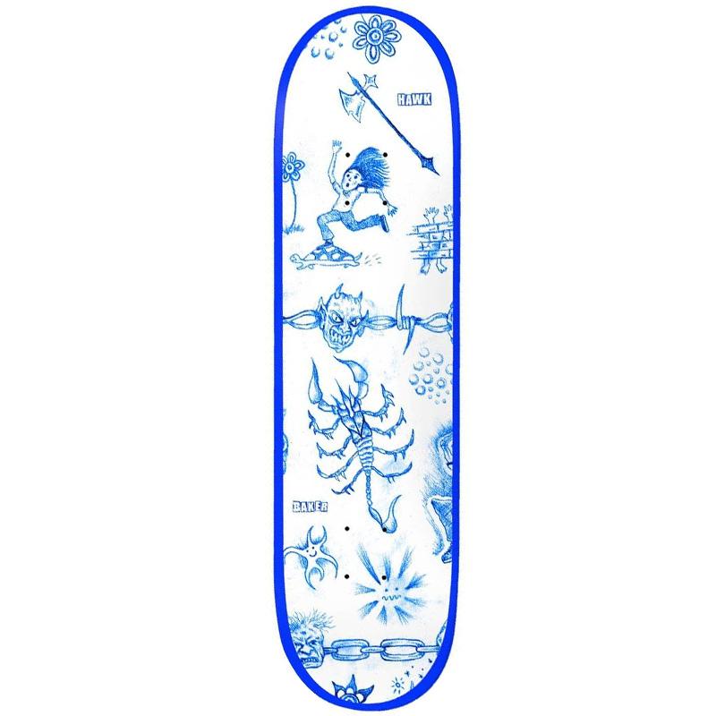 Baker Hawk Lunacy Skateboard Deck 8.25