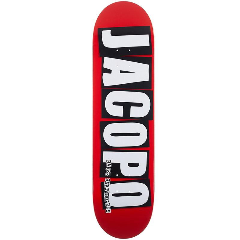Baker Jacopo Carozzi Brand Logo Skateboard Deck 8.25