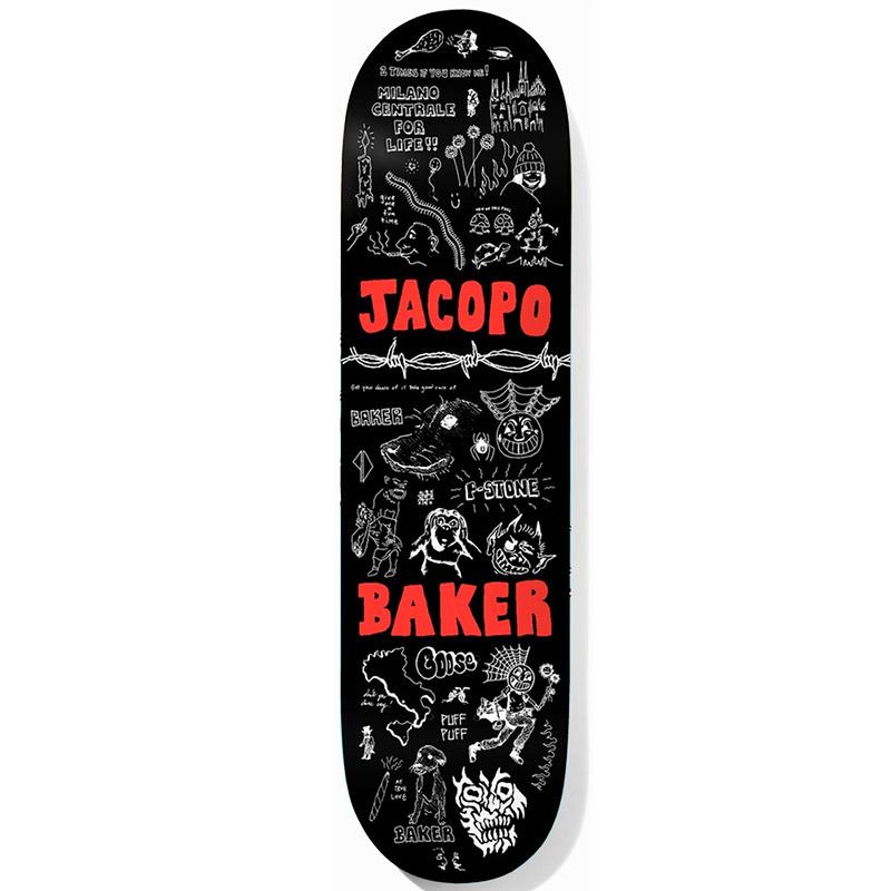 Baker Jacopo Carozzi Puff Puff Skateboard Deck 8.5
