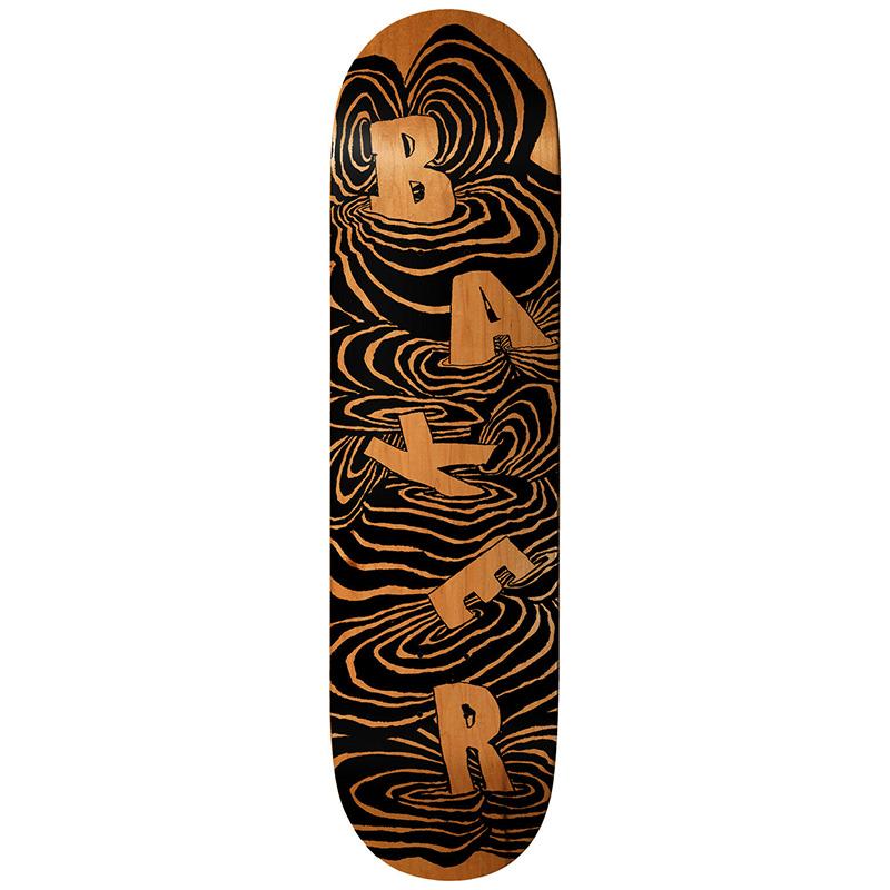 Baker Kader Sylla Swirls Skateboard Deck 8.125