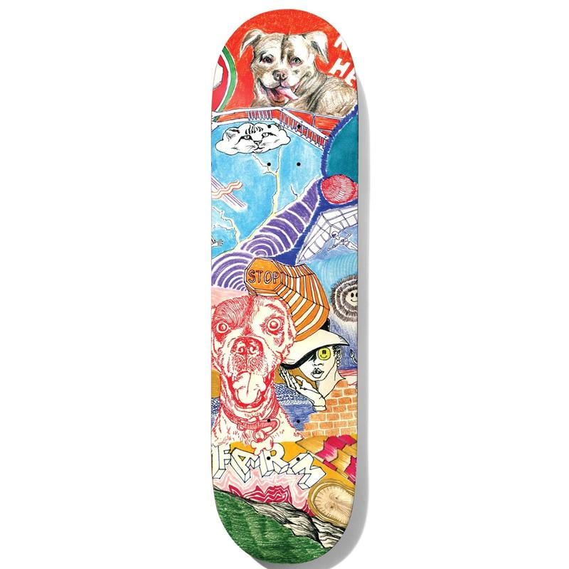 Baker Riley Hawk Thoughts Skateboard Deck 8.25