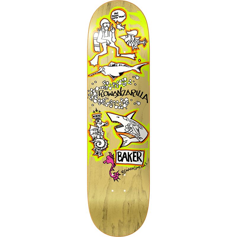 Baker Rowan Zorilla Gonz Skateboard Deck 8.0