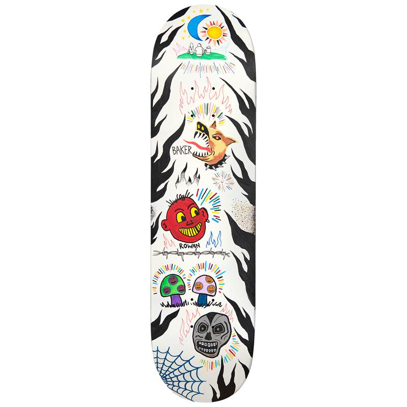 Baker Rowan Zorilla Happy Campers Skateboard Deck 8.5