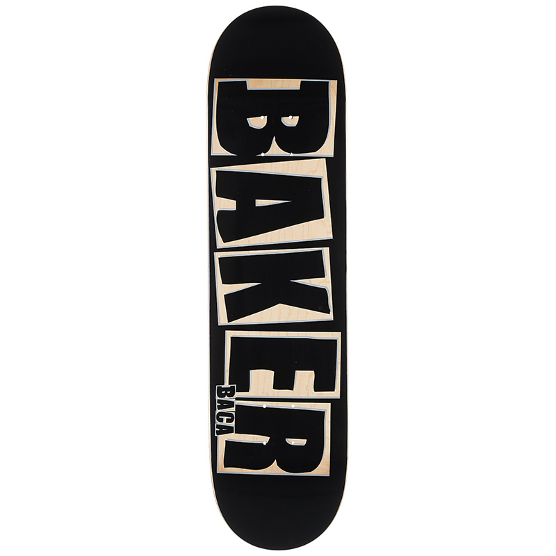 Baker Sammy Bacca Brand Name Punch Out Skateboard Deck 8.0