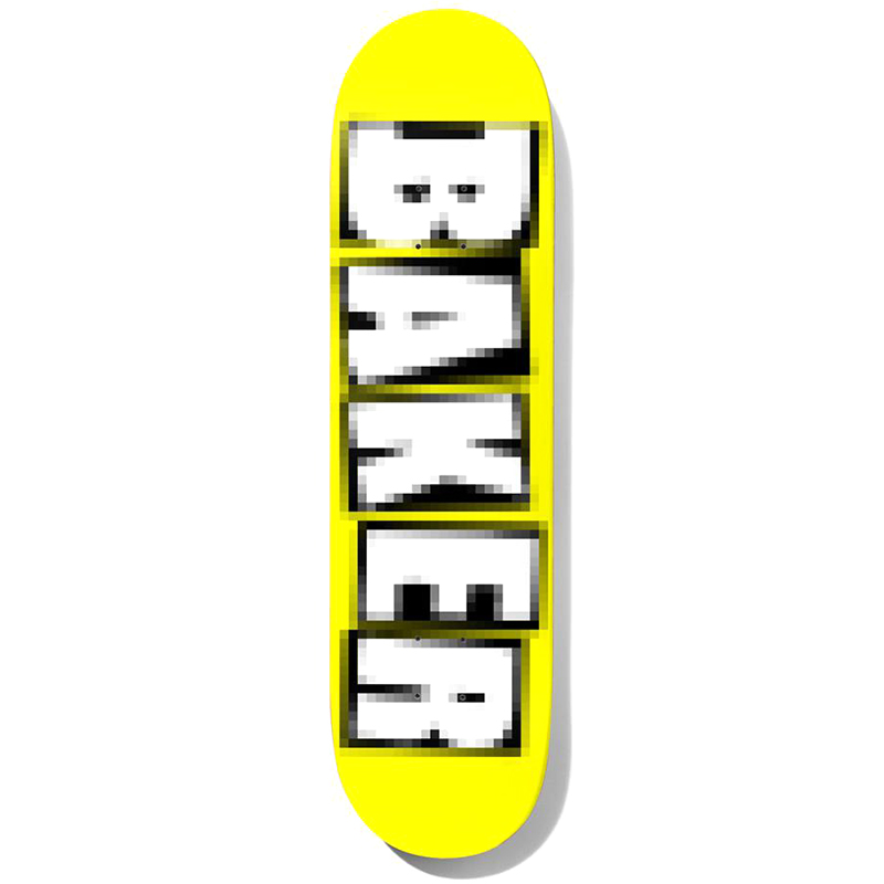 Baker Theotis Beasley Brand Name Pixelated Skateboard Deck 8.25