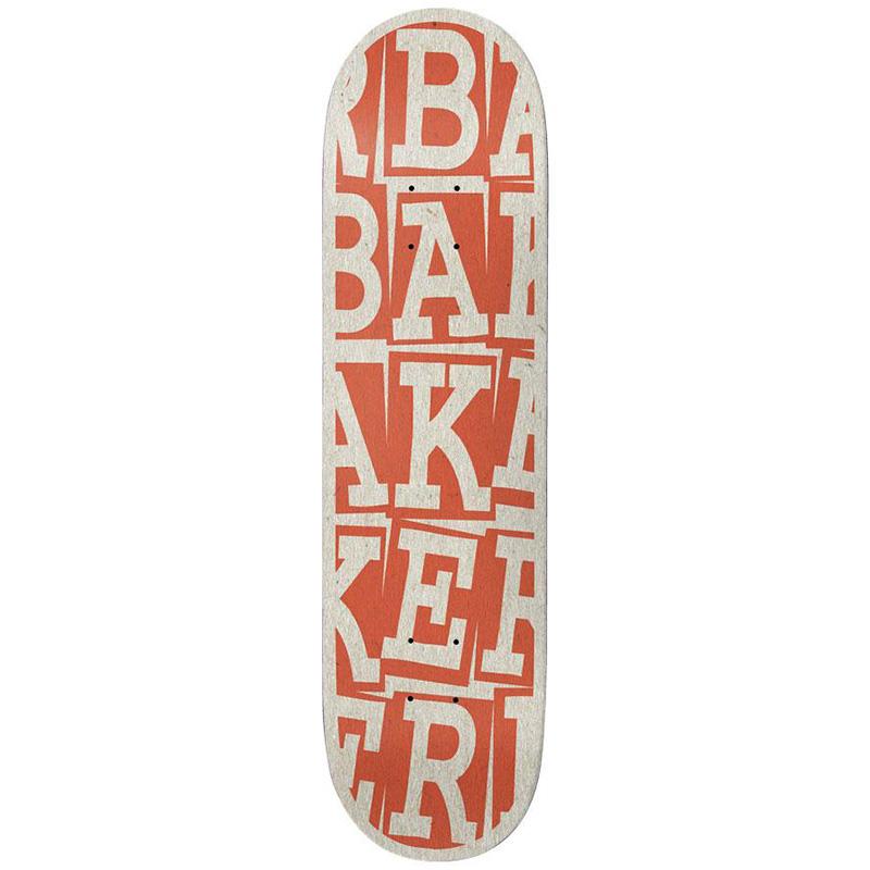 Baker Tyson Peterson Ribbon Stack Skateboard Deck B2 Rust 8.38