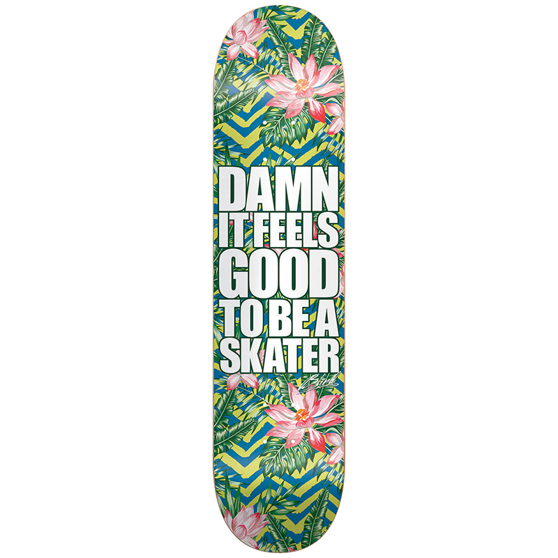 Blind Damn Plantlife V2 HYB Green/Blue Skateboard Deck 8.0