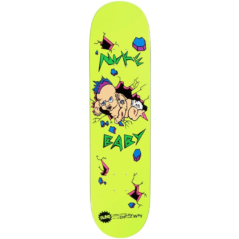 Blind Danny Way Nuke Baby HT Popsicle Skateboard Deck Yellow 8.375