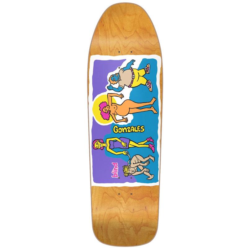 Blind Gonzales Colored People Screenprinted Skateboard Deck Orange 9.875