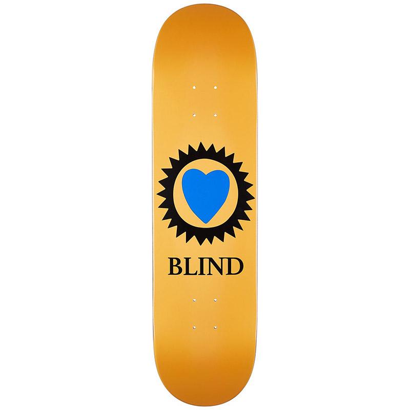 Blind Heart Skateboard Deck Peach 8.25