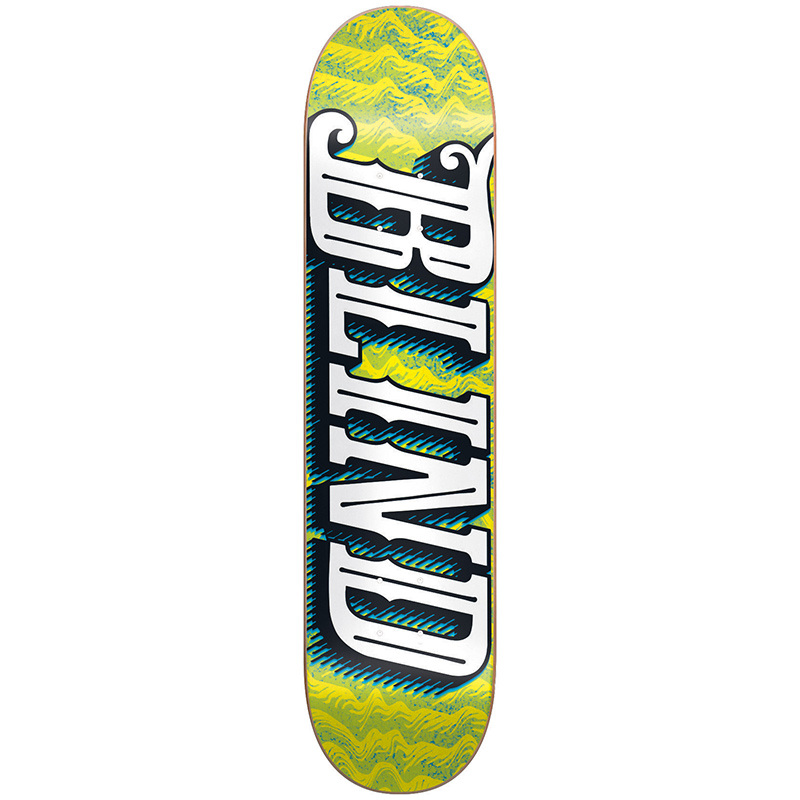 Blind Line Up HYB Green/Yellow Skateboard Deck 8.0