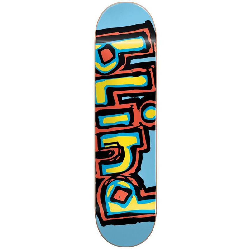 Blind OG Logo RHM Skateboard Deck Light Blue 8.375