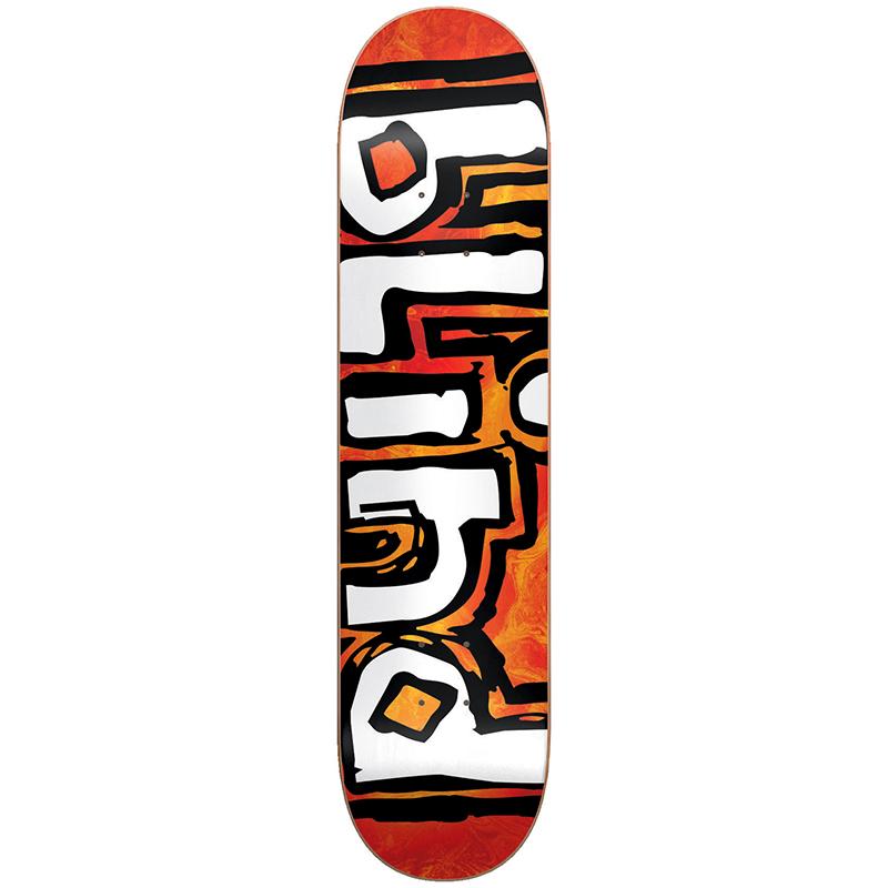 Blind Trippy OG Skateboard Deck Orange Burst 8.125