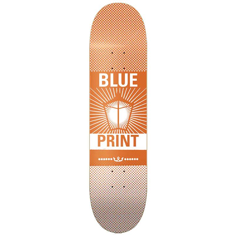 Blueprint Pachinko Skateboard Deck Orange/White 8.25