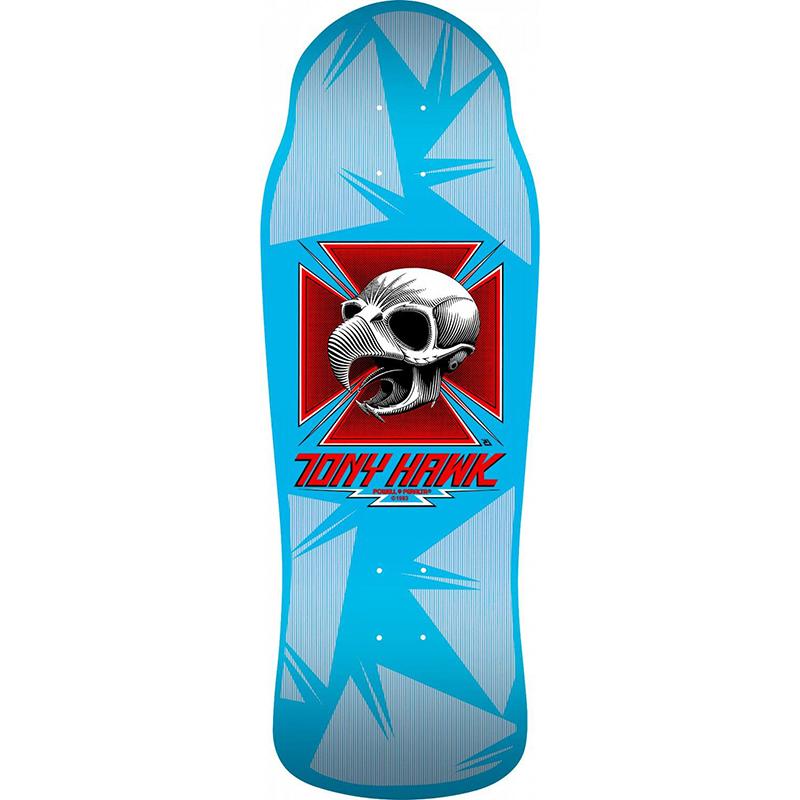 Bones Brigade Hawk Skull Skateboard Deck Blue 10.38