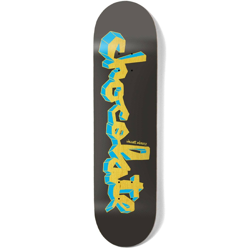 Chocolate Alvarez Lifted Chunk Skateboard Deck Black 8.18