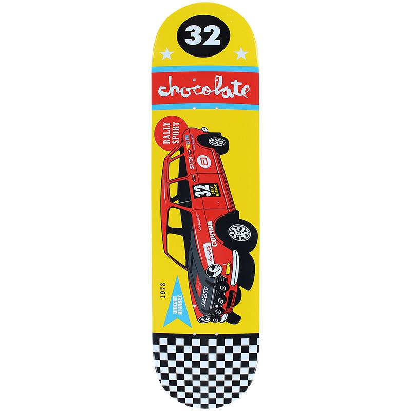 Chocolate Alvarez Rally Cars Skateboard Deck 8.0