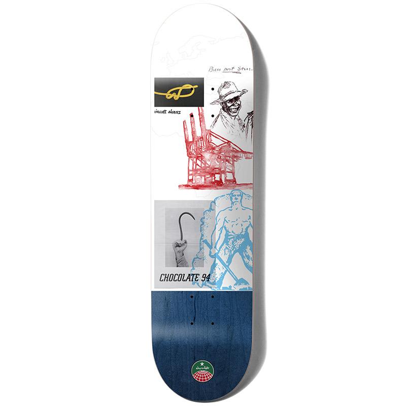 Chocolate Alvarez Stevedore Skateboard Deck 8.25