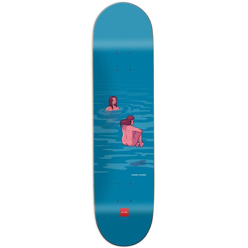 Chocolate Alvarez Sun Bathers Skateboard Deck 8.0