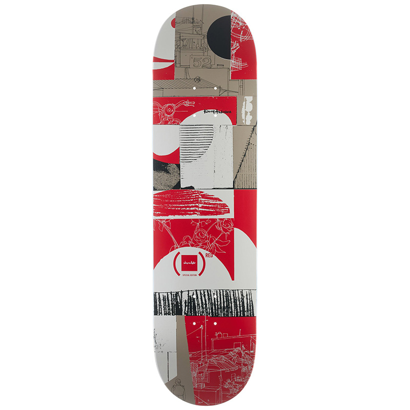 Chocolate Anderson (Red) Skateboard Deck 8.0