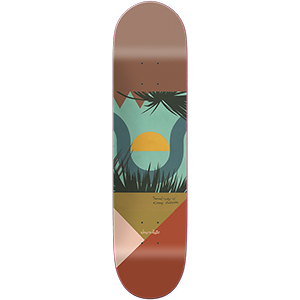 Chocolate Anderson Hecox Tropical Skateboard Deck 8.125