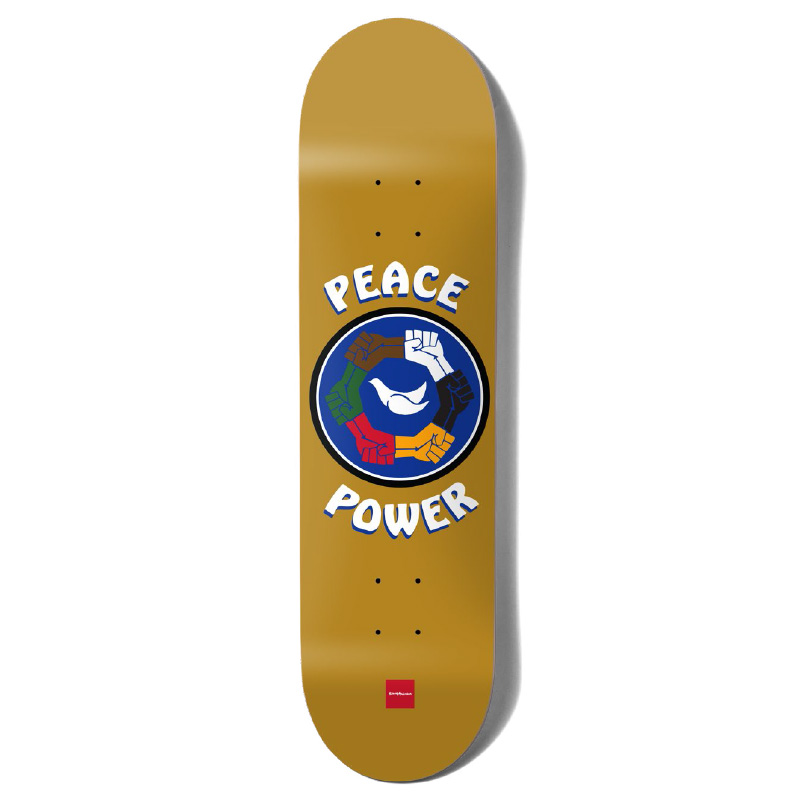 Chocolate Anderson Peace Power One Off Skateboard Deck 8.0