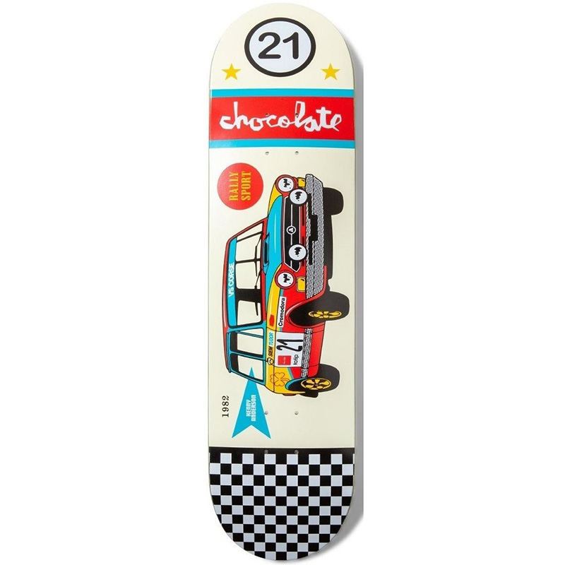 Chocolate Anderson Rally Cars Skateboard Deck 8.125