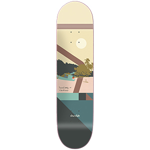 Chocolate Brenes Hecox Tropical Skateboard Deck 8.25