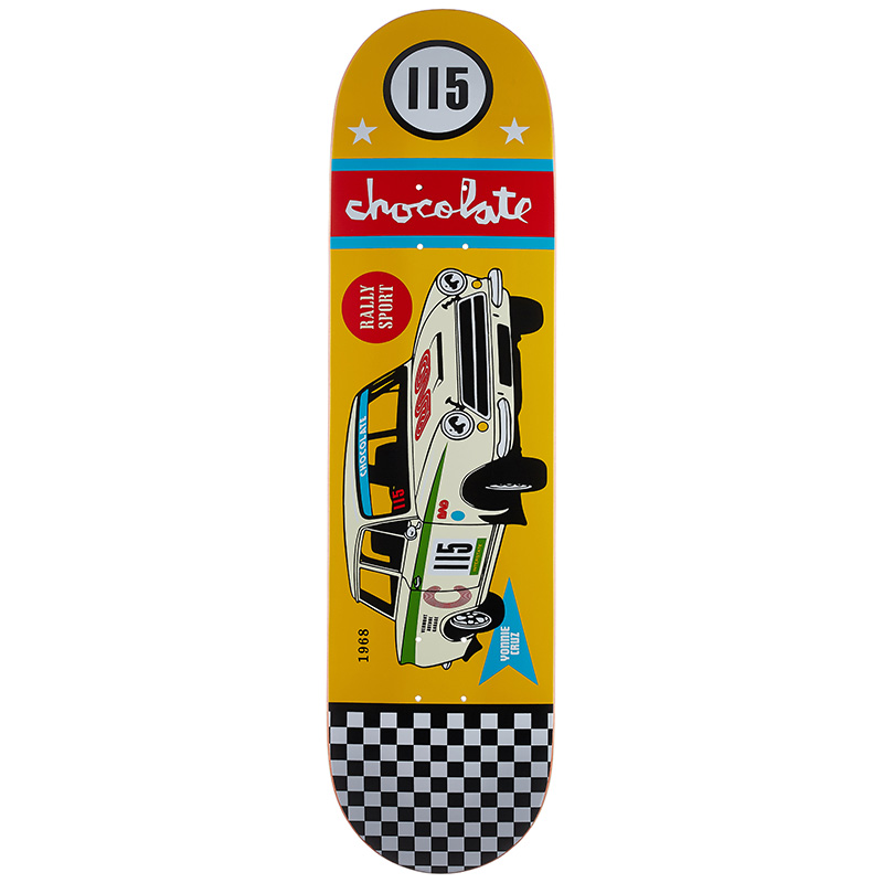 Chocolate Cruz Rally Cars Skateboard Deck 8.125