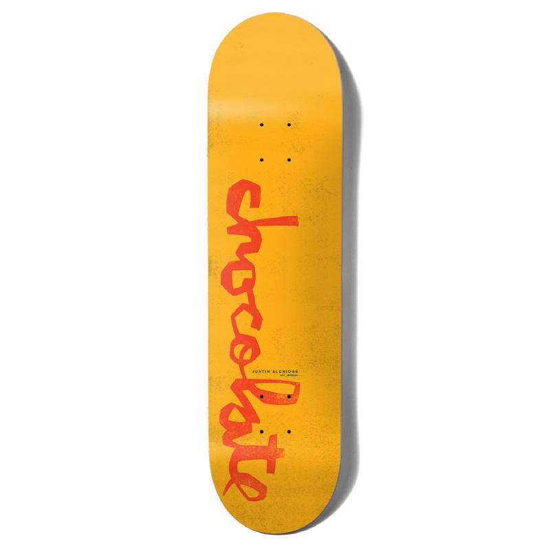 Chocolate Eldridge Og Chunk Skateboard Deck Yellow 8.25