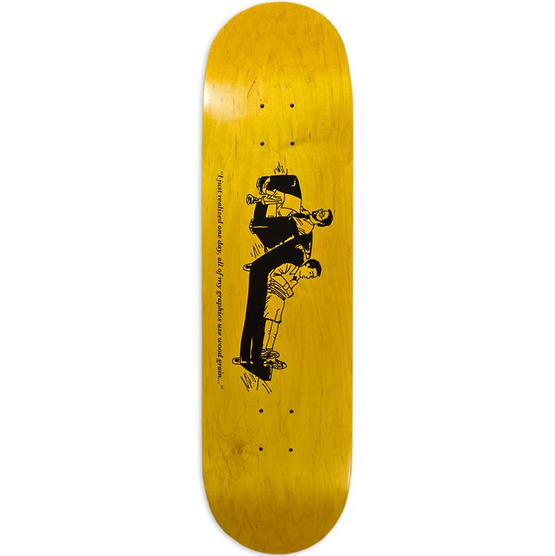 Chocolate Hsu Wood Grain Skateboard Deck 8.25