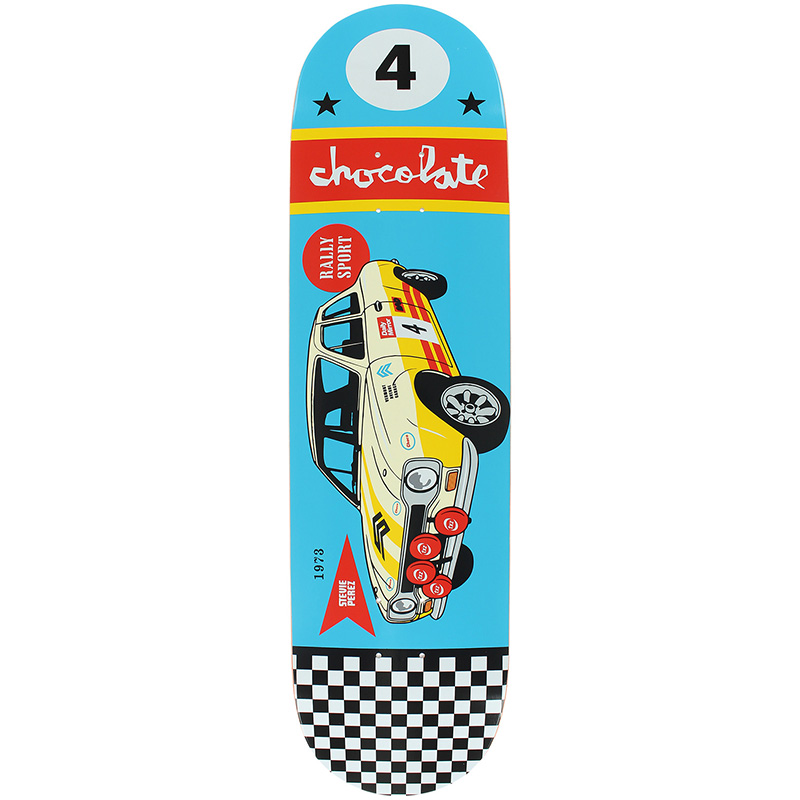 Chocolate Perez Rally Cars Skateboard Deck 8.0